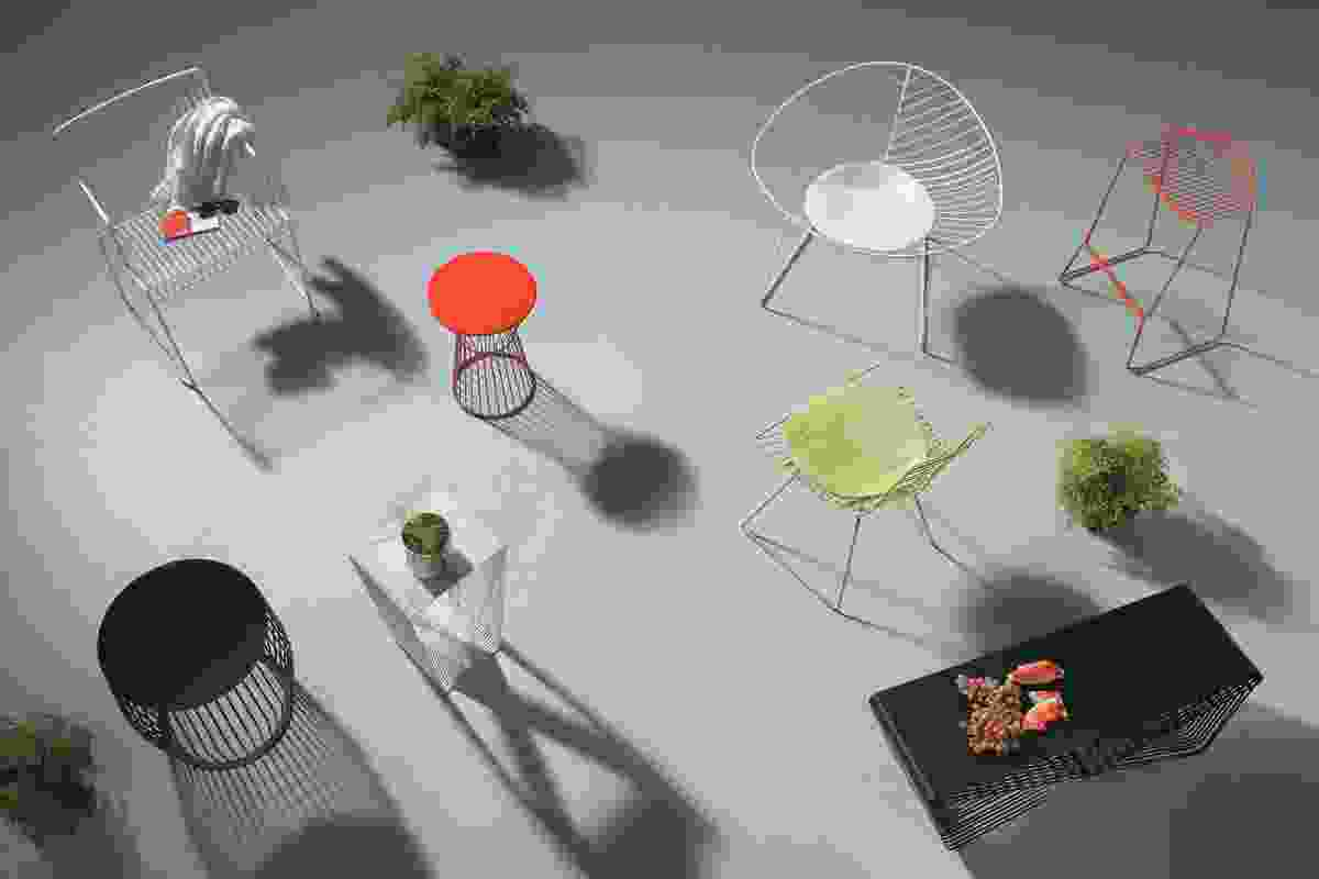 A line-up of stylish seats and side tables for summer lounging.
