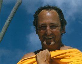 Peter O'Gorman on Fraser Island, 1980.