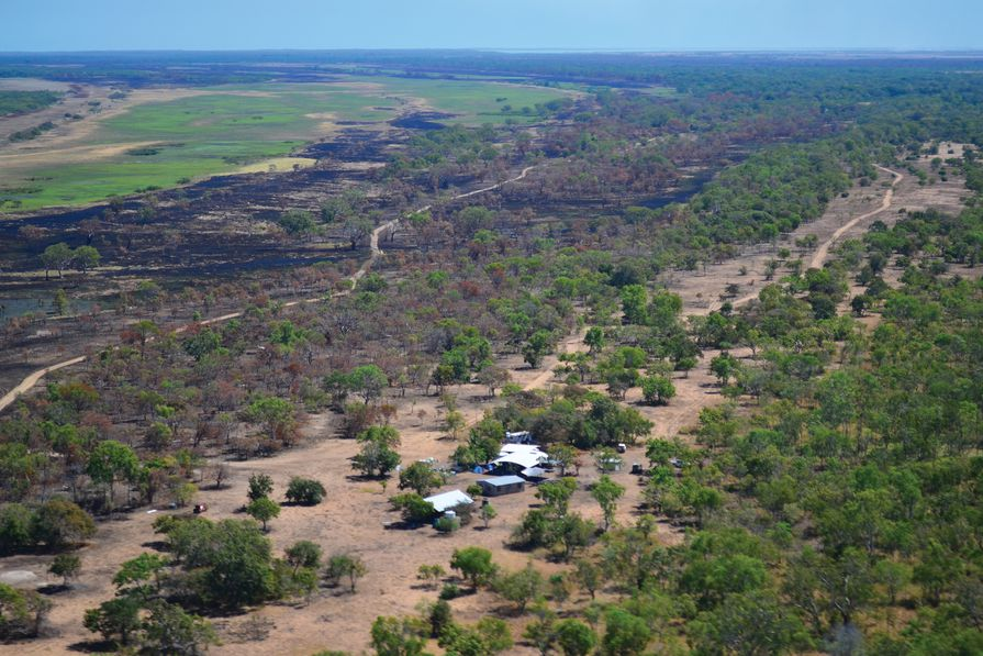 Walngal outstation in Wik Lands, south of Cape Keerweer, Western Cape York, Queensland.