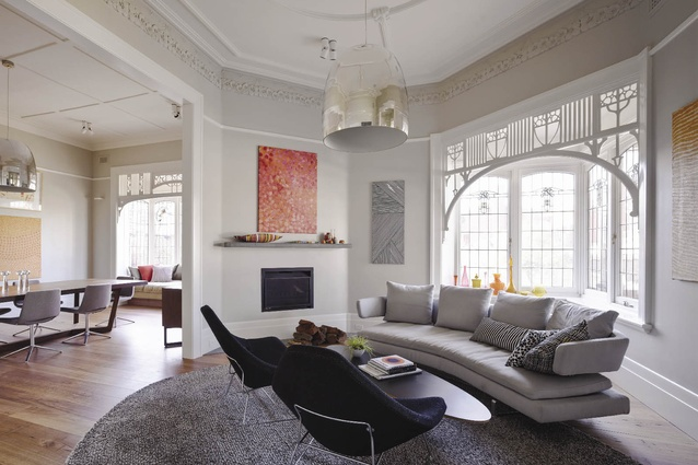 The front rooms retain the original Edwardian splendour.