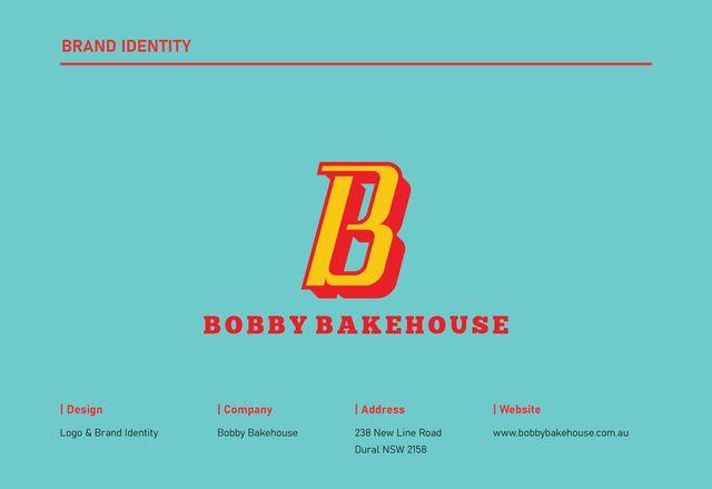 鲍比面包房派巴士品牌标识鲍比面包房