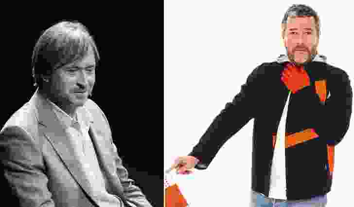 One man brands: Australian Marc Newson at TEDxSydney (May 2013) and France's Philippe Starck.