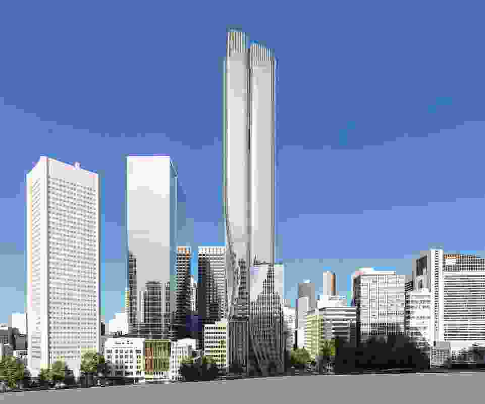 The earlier, taller design for 435 Bourke Street by Bates Smart.