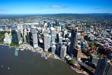 The city of Brisbane in Queensland.