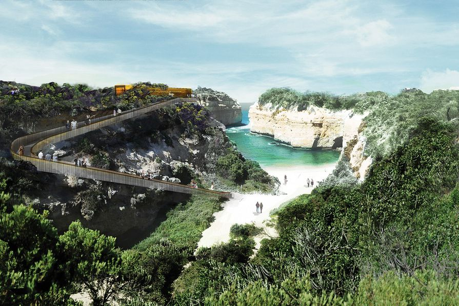Concepts for the Loch Ard Gorge region as put forward by the Shipwreck Coast Master Plan.
