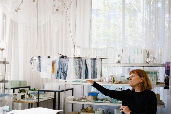 Janet Laurence's studio.