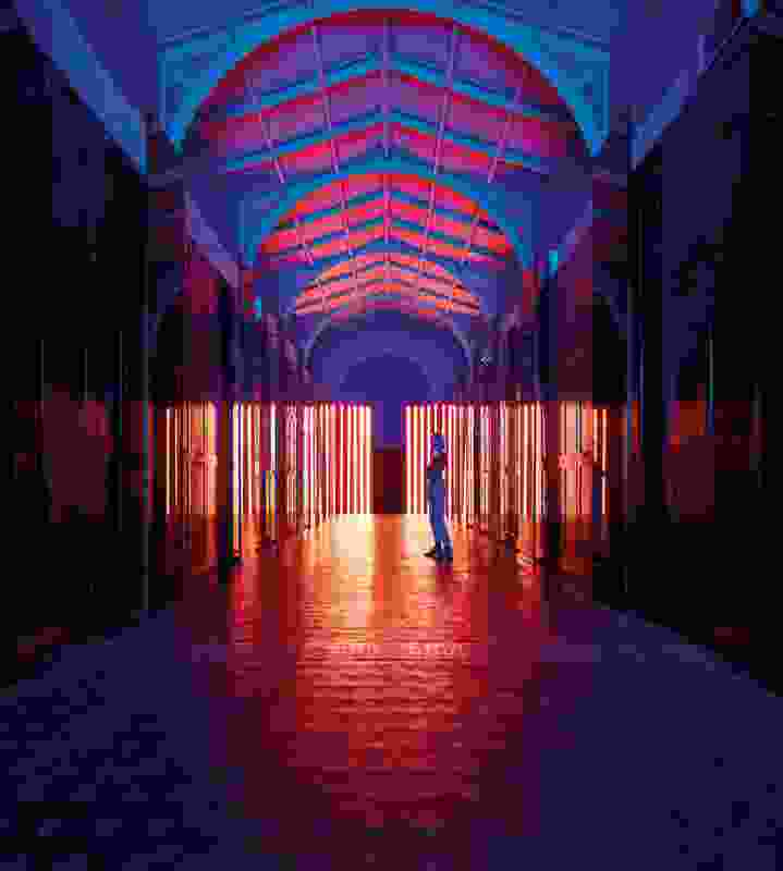 Reflection Room (2017) is an immersive, coloured light experience that was the first London Design Festival installation to be housed in the V&A; Museum's Prince Consort Gallery.