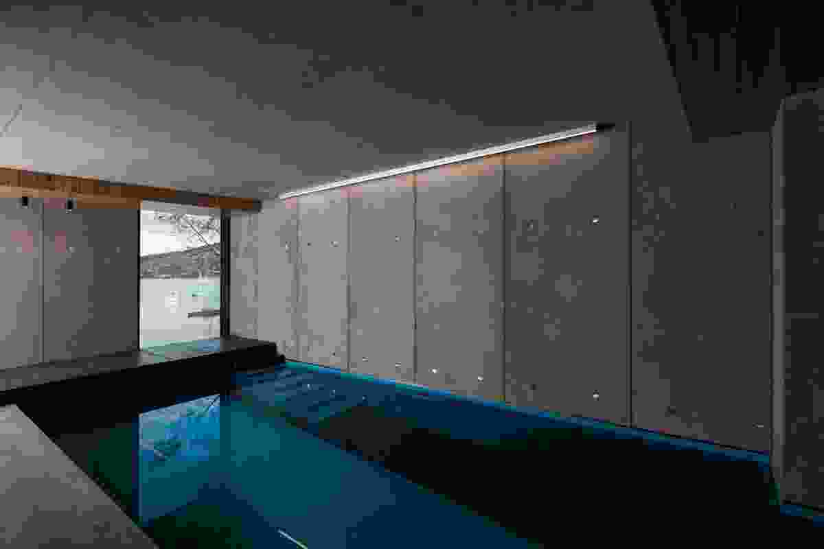 The lap pool on the lower ground floor.