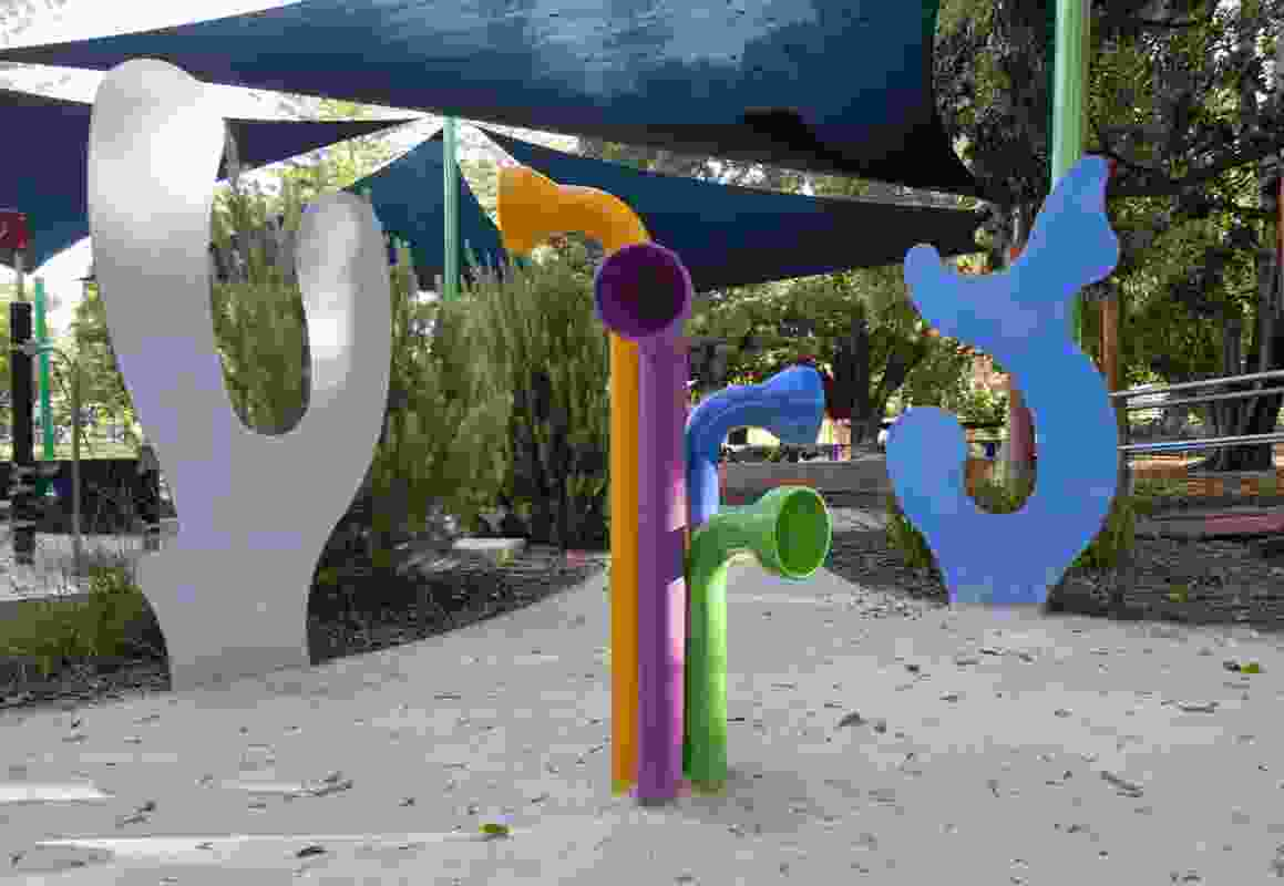 Talking tubes allow encourage communication playspace between friend, new and old.