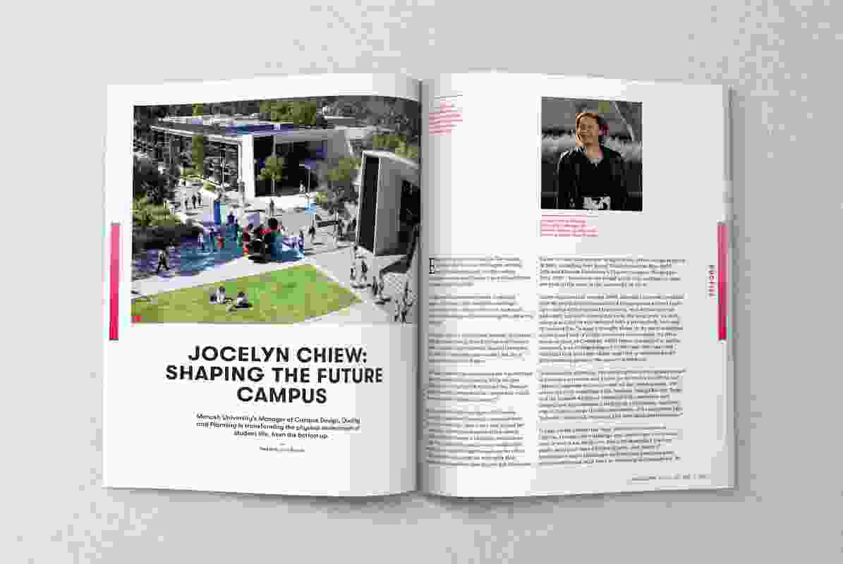 A spread from the August 2018 issue of Landscape Architecture Australia.