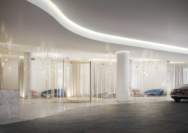 Interiors of the Adelaide Casino expansion, designed by Hecker Guthrie in collaboration with Walter Brooke.