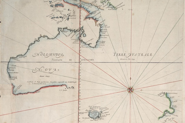 Thévenot after Blaeu, 1659, from Abel Tasman, 1642-4. According to Jillian Wallliss, OMA's Australian lecture echoed colonial framings of terra nullius.