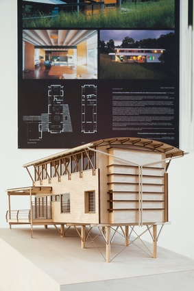 A model of Clare Residence (Buderim) by Clare Design.