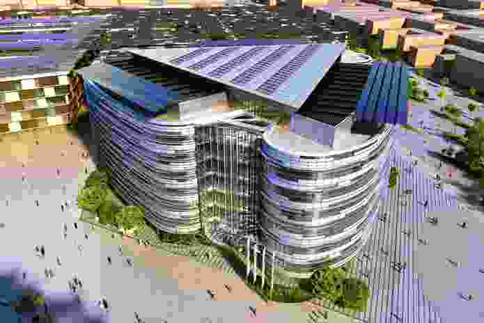 The proposed Masdar headquarters by Woods Bagot.