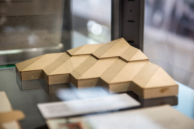 Architectural model at <i>Dickson and Platten Architects: 1950-2000</i>.