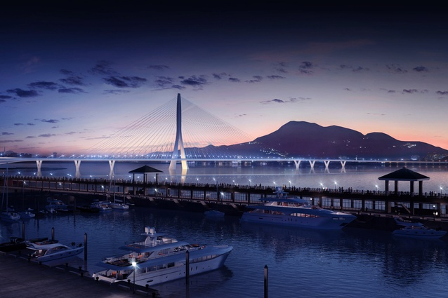 The construction of the bridge will facilitate the expansion of the city's light rail public transport system, and will connect communities that lie over the bridge.