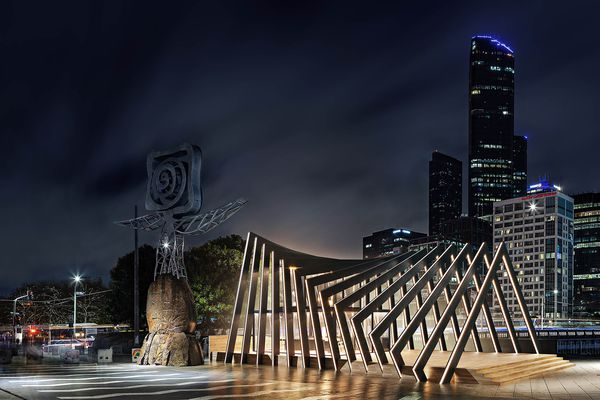 Pop-up pavilion in Southbank by Samson Tiew from One Design Office.