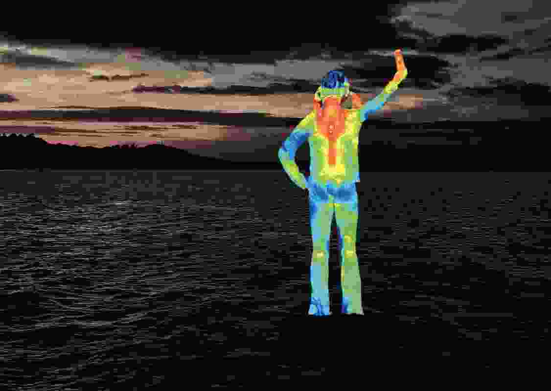 A conceptual image for Ocean Siren, the five-metre-tall sculpture to be installed just off the coast in Townsville.