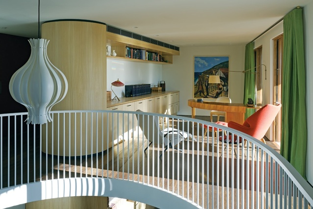 The study references the form and materials of the main staircase.