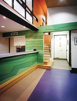 Reception area.Image: Scott Burrows