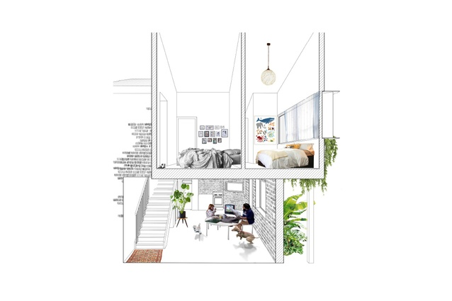 """The internal spaces are adaptable and a source of pride for the residents, designed to address """"both the pragmatic and the emotional needs of women and their children."""""""