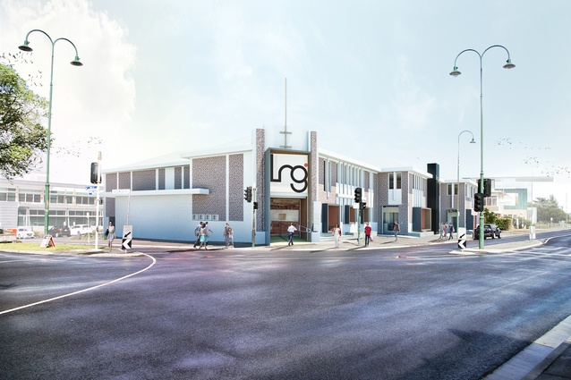 The original entry of the building will be reinstated in the proposed refurbishment of Latrobe Regional Gallery by NAAU Studio.