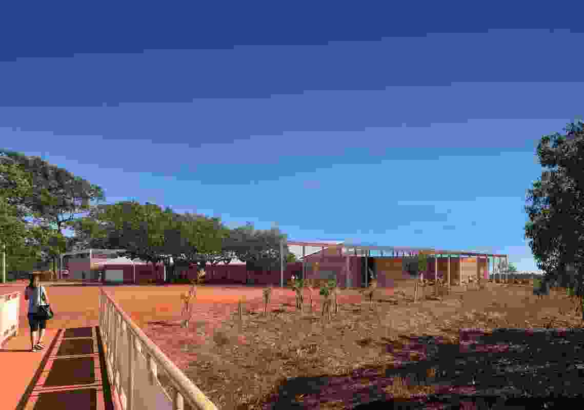 Southern view of the proposed Maningrida Arts and Culture Precinct.
