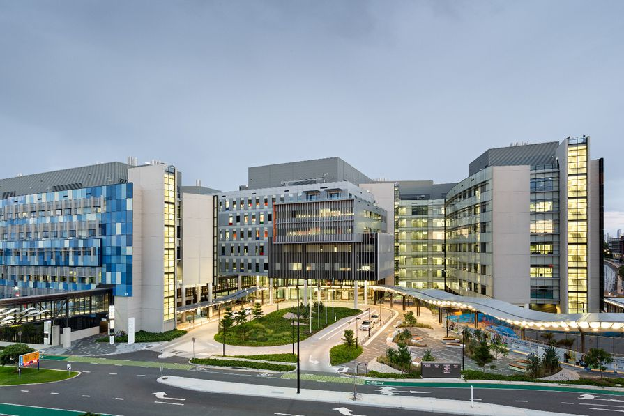 The Gold Coast University Hospital, a collaboration among PDT Architects and Silver Thomas Hanley and Hassell.
