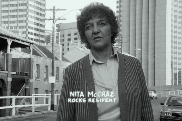 Still from the film <i>Rocking the Foundations: a history of the NSW Builders Laborers' Federation and the Green Bans</i> by Pat Fiske.