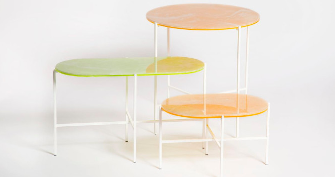 Neon tables from Haymann.