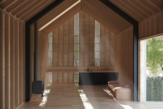The Adobo Wood showroom in Cardrona Valley by Assembly Architects.