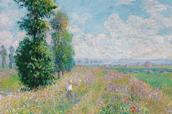 克劳德·莫奈的《草地上的白杨树》