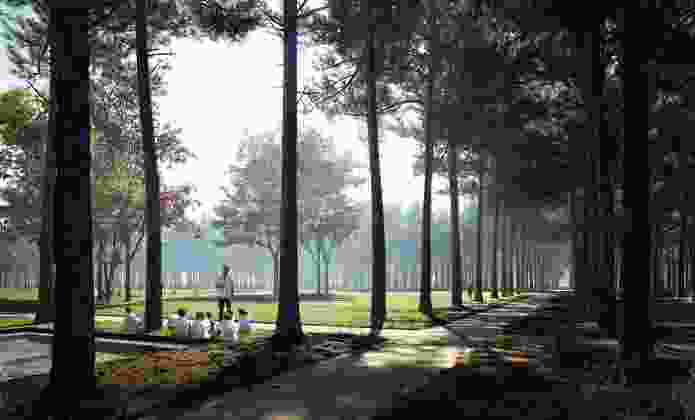 Memorial Park Master Plan, Houston, by Nelson Byrd Woltz Landscape Architects.