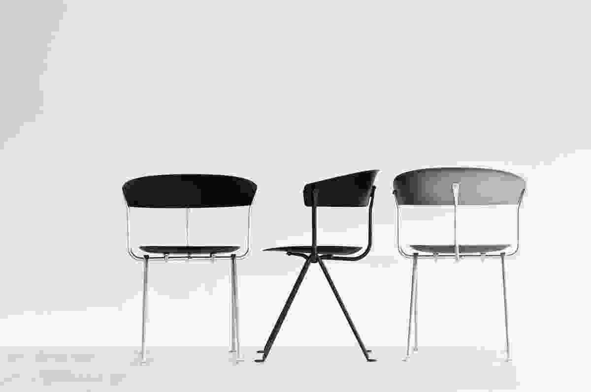 The Officina range of wrought iron chairs by Ronan and Erwan Bouroullec, part of Magis' 2016 collection.