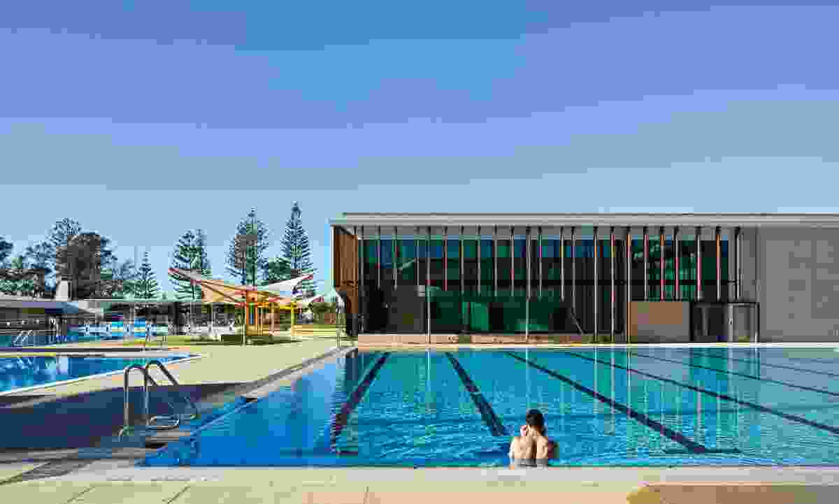 The Gold Coast Aquatic Centre (2014), reimagined by Cox Rayner Architects, won a chapter award for public architecture in the 2015 Australian Institute of Architects Queensland Architecture Awards.