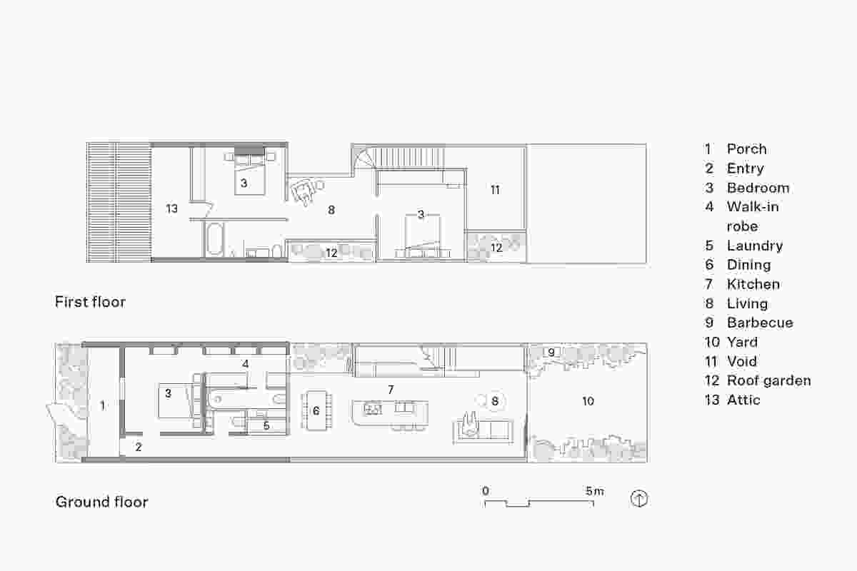 由Lande Architects设计的South Yarra House平面图。