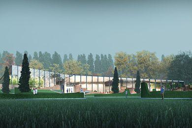 The Southern Highlands Botanic Gardens visitor centre by John Wardle Architects.