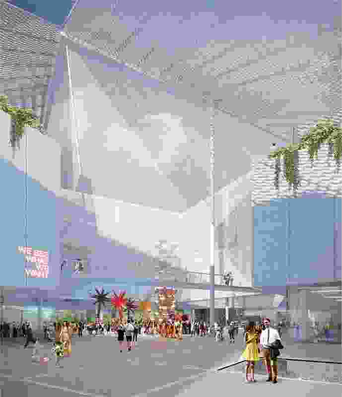 Proposal for Adelaide Contemporary by Hassell and SO-IL.