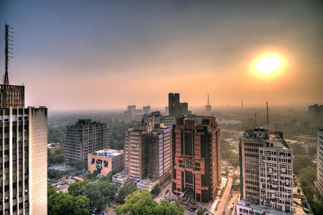 Smog over Delhi's skyline