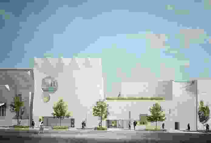 The proposed Phoenix Gallery building by John Wardle Architects and Durbach Block Jaggers, with Khai Liew and Janet Laurence.