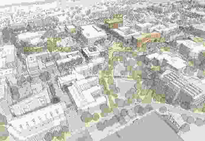 The University of Wollongong's 2016–2036 Wollongong campus masterplan.