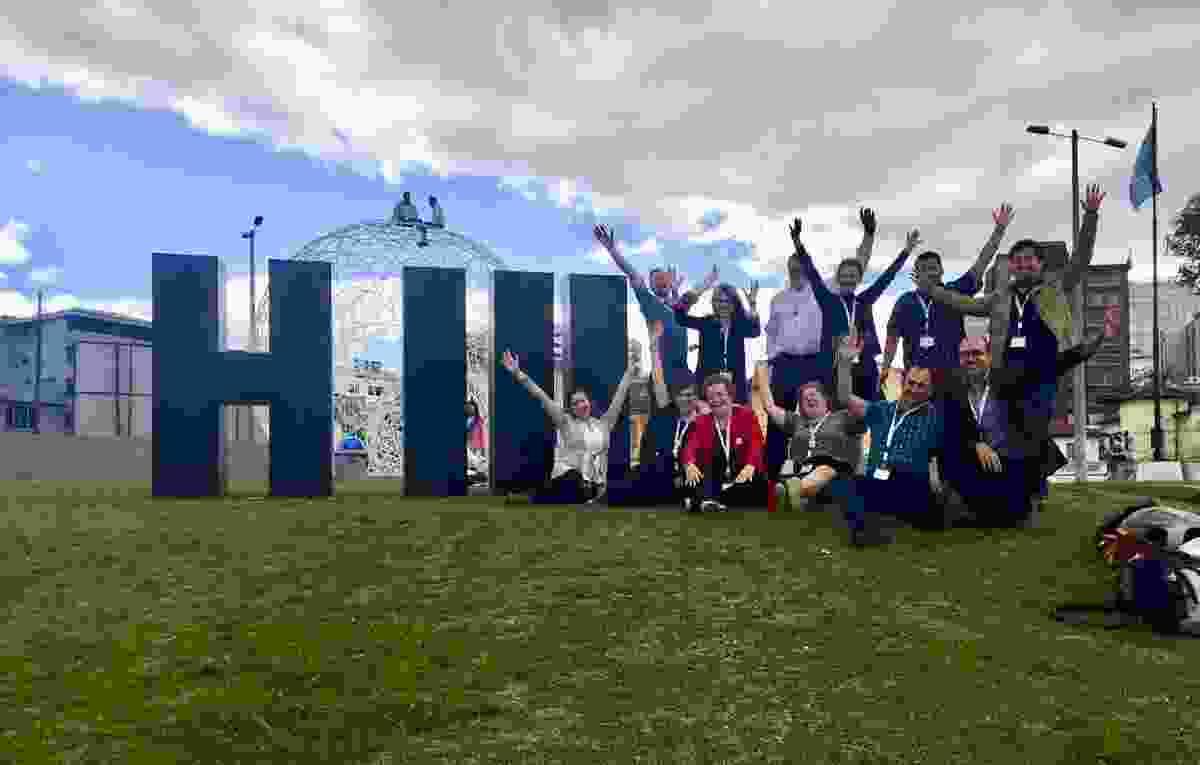 The University of Melbourne delegation to Habitat III in Quito, Ecuador.