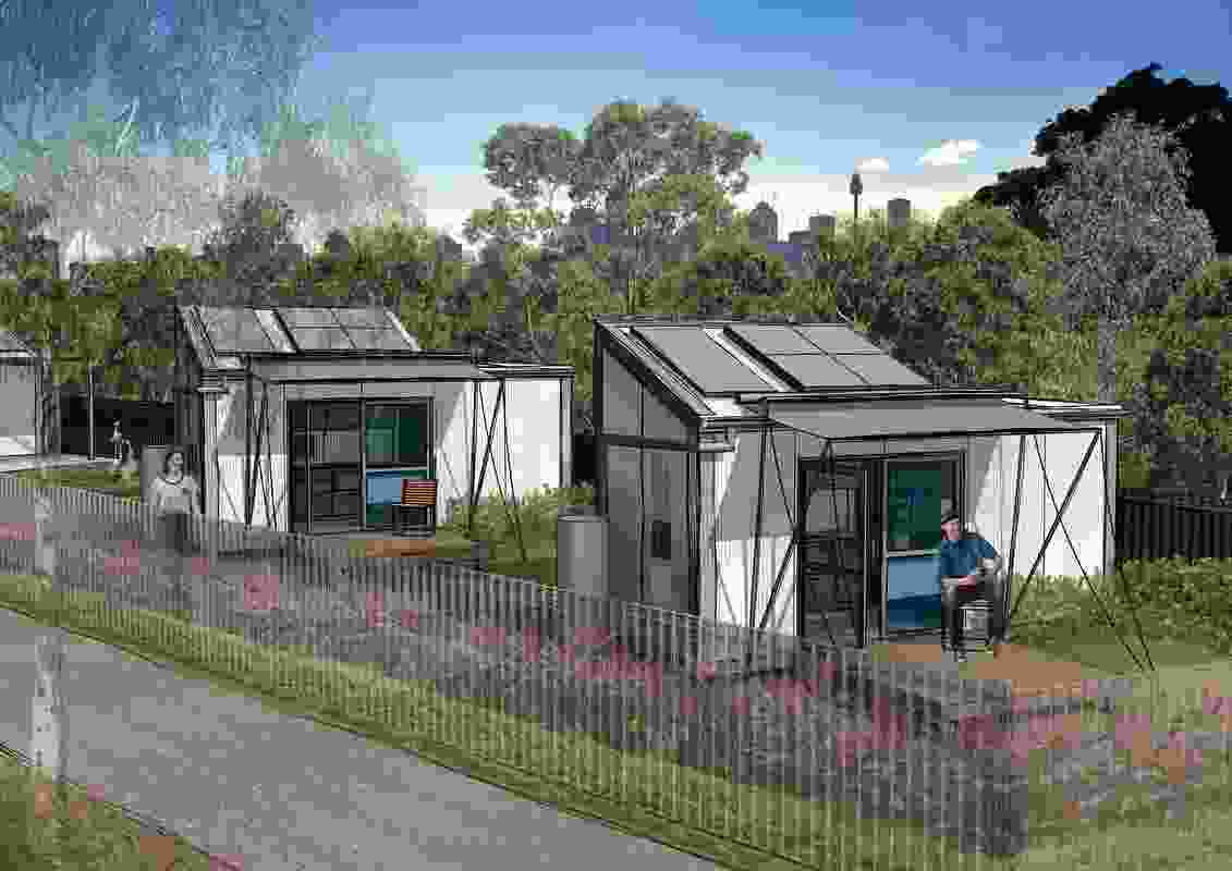 The Tiny Homes Foundation pilot project designed by NBRS Architecture.