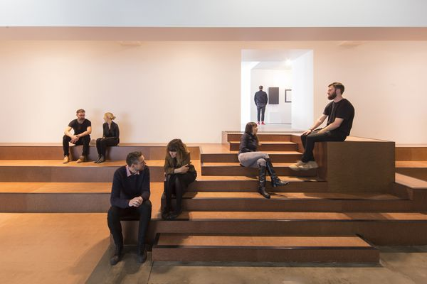 "The ""bleacher"" in Object's new gallery is both stairway and seating."