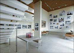 Overview of the Heide II living room, showing