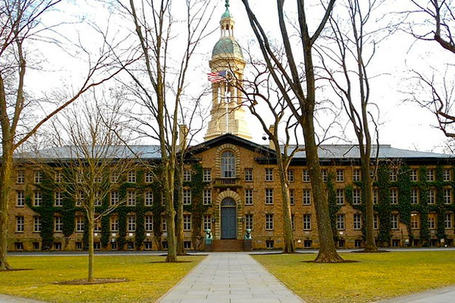 Princeton University's Nassau Hall. Three Australian architecture schools fared better than Princeton in the 2015 QS World University Rankings.