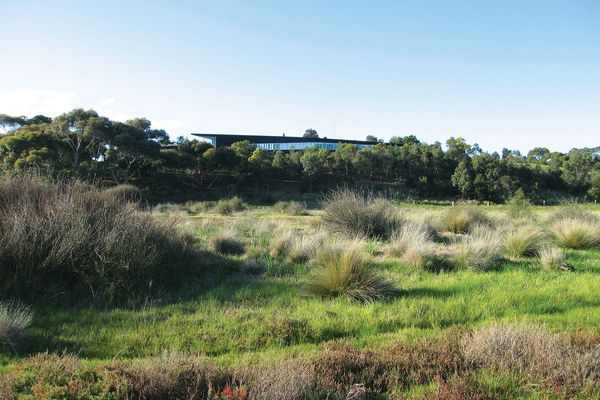 House at Lake Connewarre (2002):  landscaping and inhabitation are significant.
