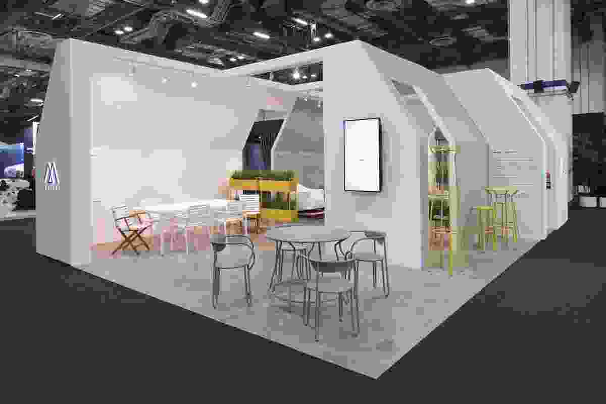 The Maiori stand at Maison&Objet Asia, featuring the Huggy series.