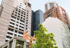 The proposed Alfred Place tower by Chris Connell Design as seen from Collins Street.