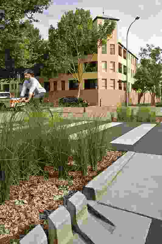 Pod Landscape Architecture with GTA Consultants, Northrop Engineers and the City of Sydney for Bourke Street Cycleway, Woolloomooloo.